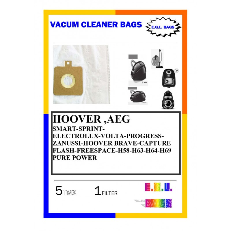 Vacuum cleaner bags for  AEG HOOVER SPRINT SMART  5pieces+1filter